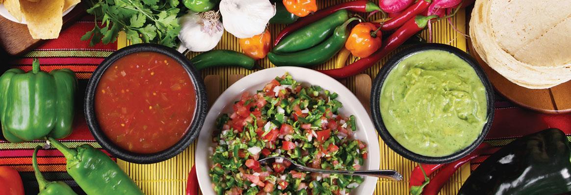 Mexican Salsa, Spicy Sauce & Guacamole banner