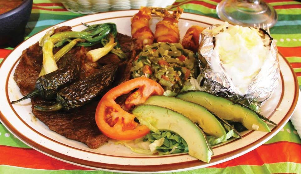 Delicious dinner entrees from El Sarape in Albuquerque, NM