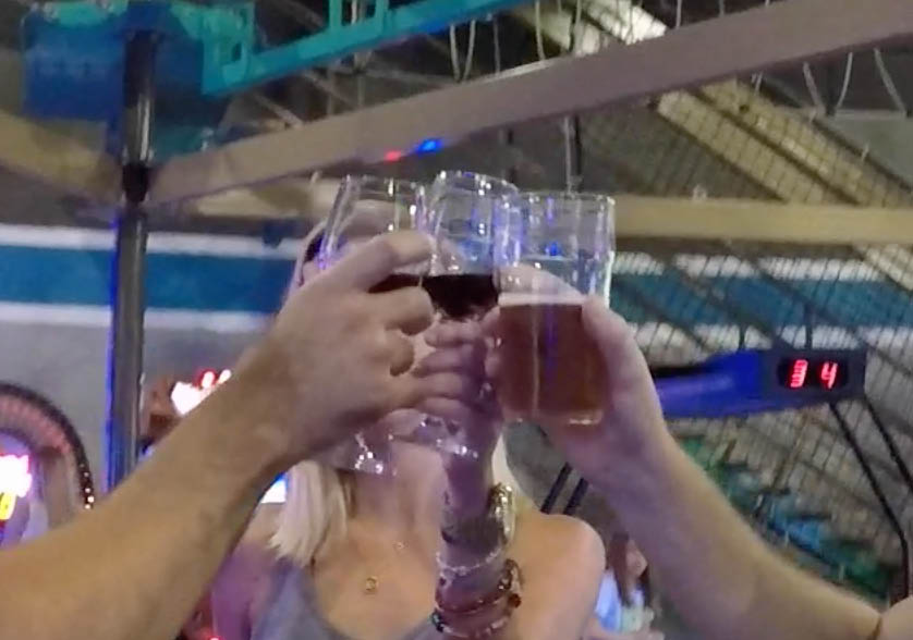 adults enjoying the bar at Epic Fun in Austin, TX