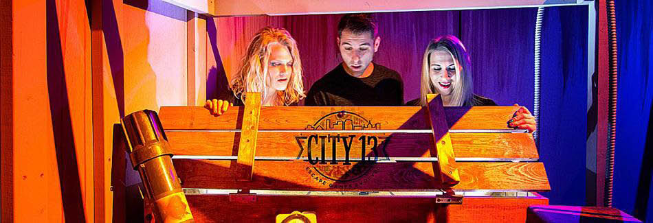 City 13 Escape Room Oak Creek, Wisconsin main tag banner