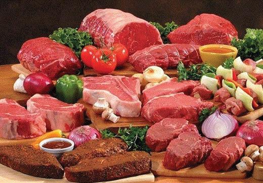 Full service fresh meat counter at Eureka Farm Market in Southgate, MI
