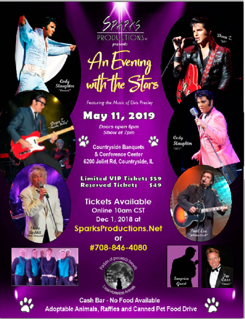 Evening With The Stars featuring the Music of Elvis Presley at the Countryside Banquets and Conference Center.