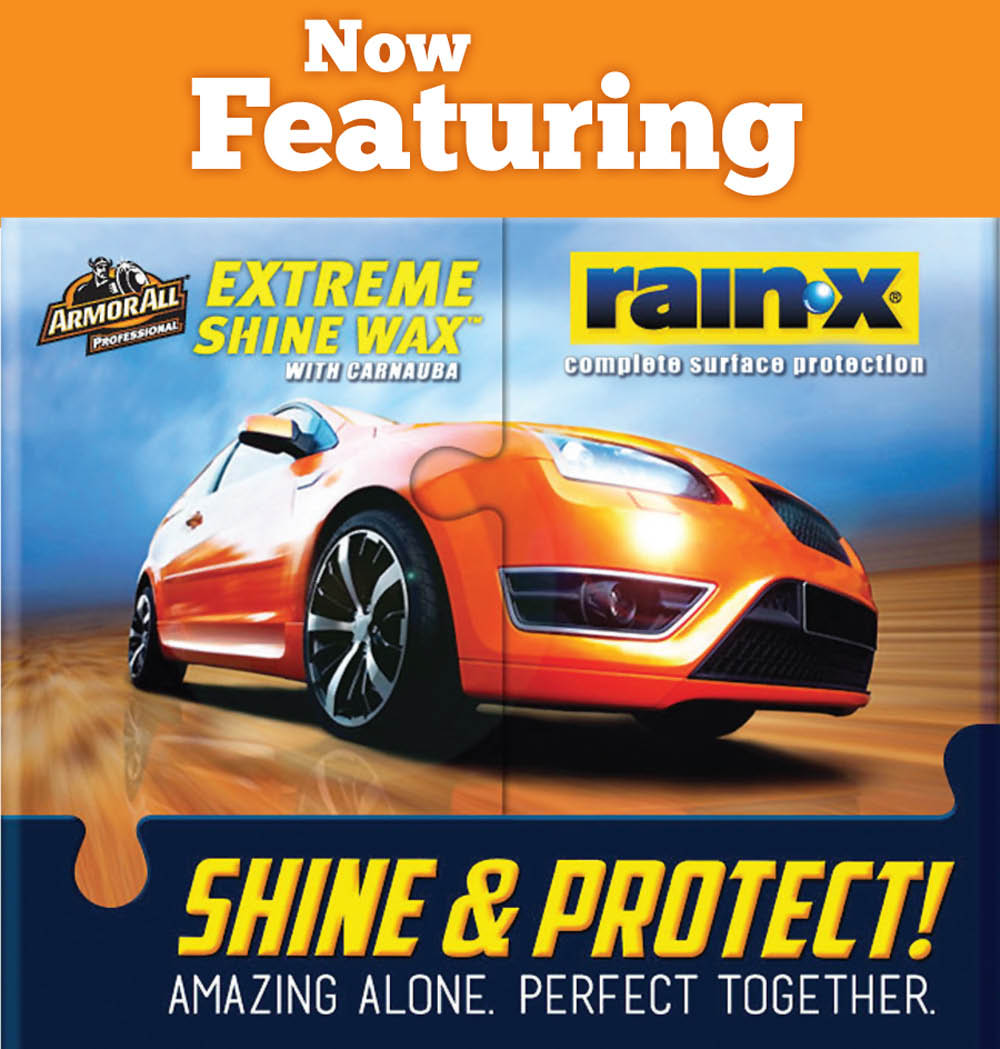 De Wagen Wasserij Lynden car wash now featuring Extreme Shine Wax with Carnauba and Rain-X complete surface protection.