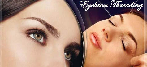 Discount eyebrow threading from Magic Hands Salon