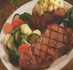 Grill roasted steak and potatoes with steamed veggies near Boiling Springs