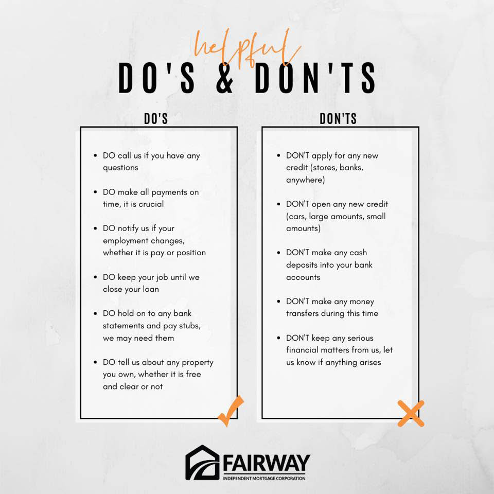 Do's and Don'ts for Home Loans