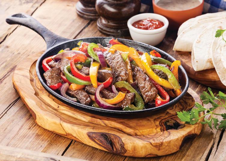 Beef, Chicken or Shrimp Fajitas