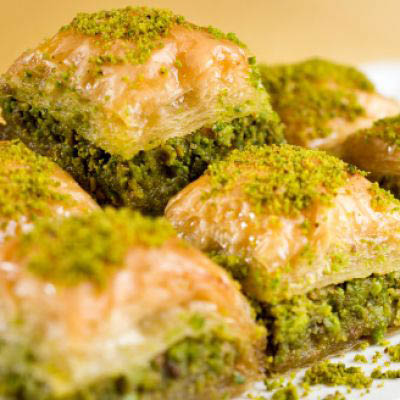 Baklava Dessert - Sweet flaky pastry with ground nuts and honey