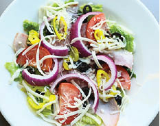 crisp antipasto salad