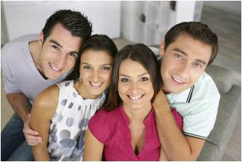 family at dentist; montgomery dental associates located in rockville, maryland