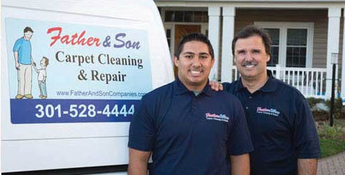 father and son carpet cleaning repair germantown maryland