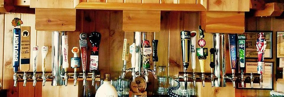 Draft beers at Fatties Pub in Orland Park, Il.