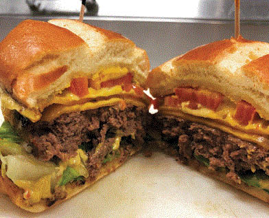Picture of hamburger at Fayrouz Grill & Banquet in Garden City, MI
