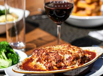 Fazzini's Taverna in Cockeysville md homemade layered lasagna.