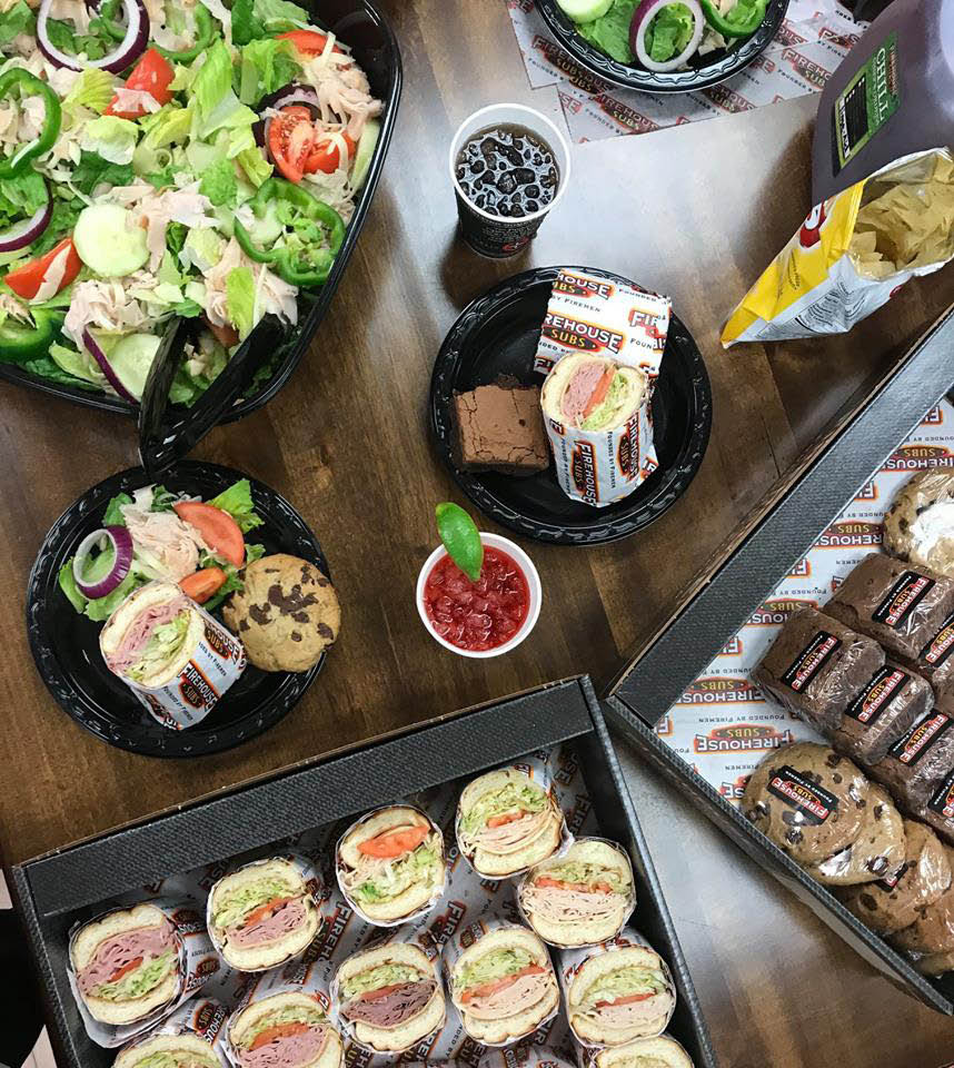 Firehouse Subs catering spread