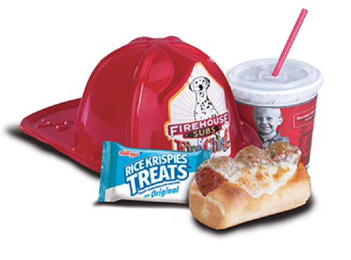 Firehouse Subs kids meals with drink and dessert