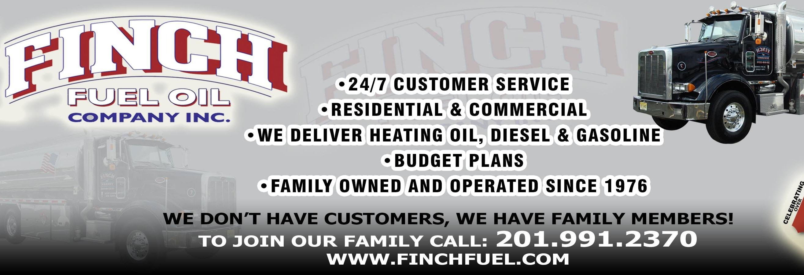 Finch Fuel Oil Co., Inc. in New Jersey banner