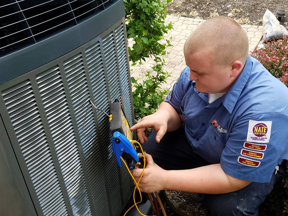 Fire and Ice Heating and Cooling service tech