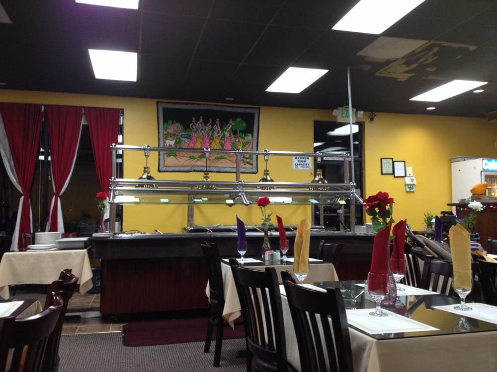 Interior of Flavor of India in Lorenzo, CA