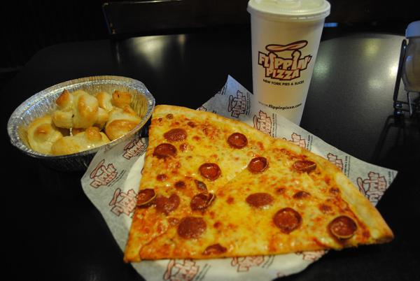 Flippin Pizza slices