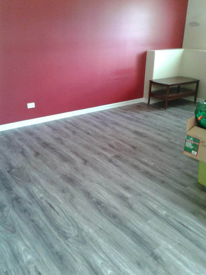 New apartment vinyl flooring.