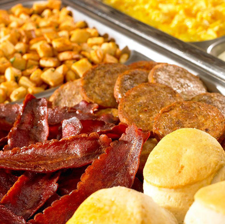 Breakfast served all day - every day at The Flying Biscuit Cafe in Houston, Texas.