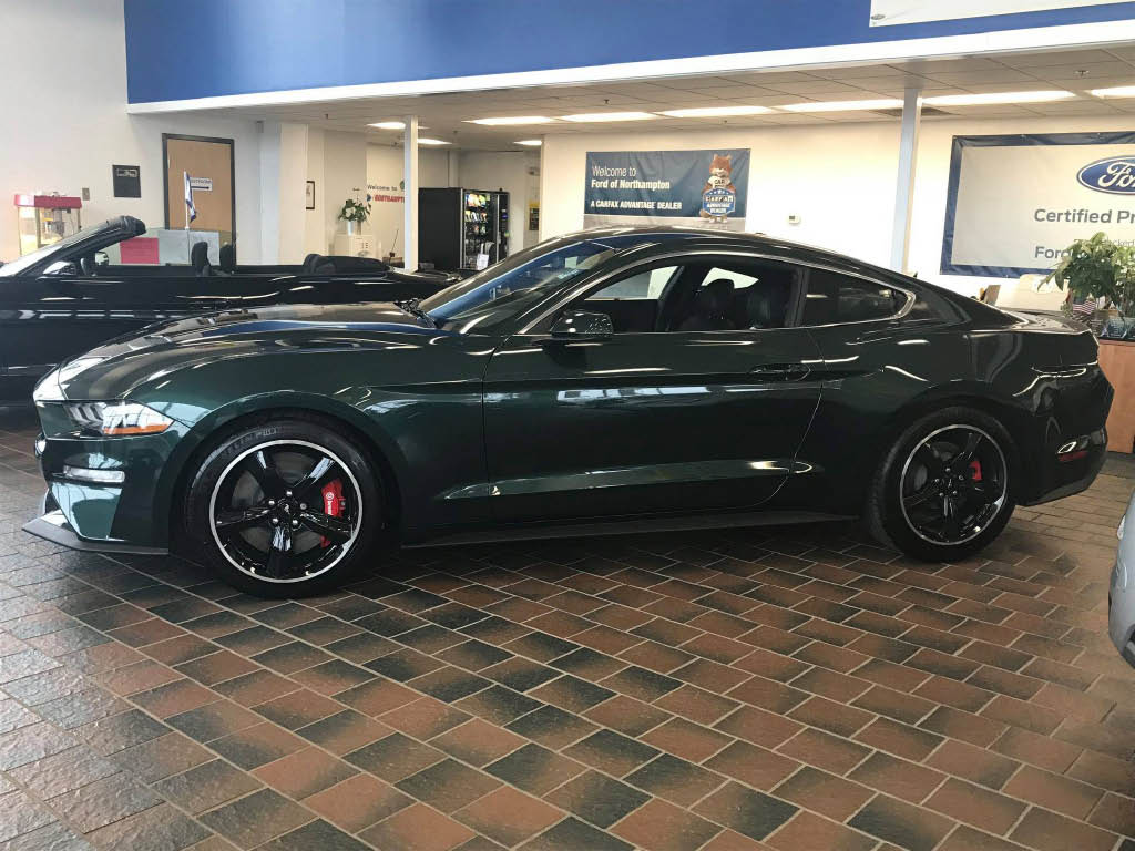 new car on display at local ford dealer