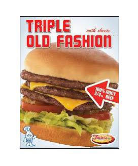 Order a Triple Old Fashion Hamburger from Fosters Freeze