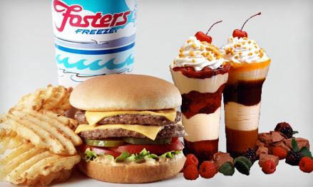 Try a Fosters Freeze burger, sundae or smoothie