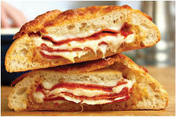hot subs; homemade sub bread; Italian sandwiches; Stromboli