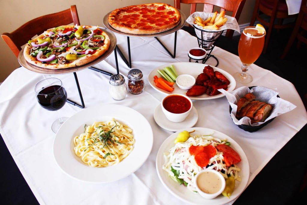 dining at Fratelli's Pizza Italian Restaurant