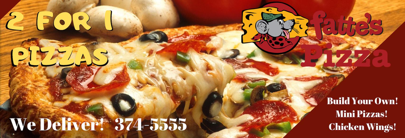Fatte's Pizza in Fresno, CA banner ad