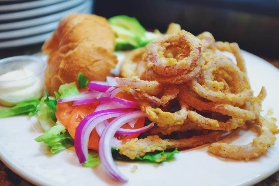fried calamari from hickory bar and grill located in burtonsville, md
