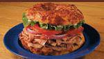 Ham Sandwich bagel at Great American BAgel.