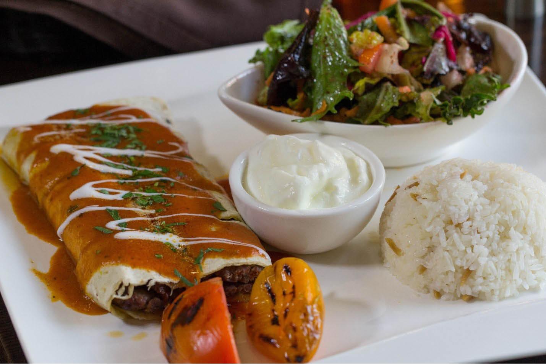 Medley of Mediterranean foods from Galata - New York