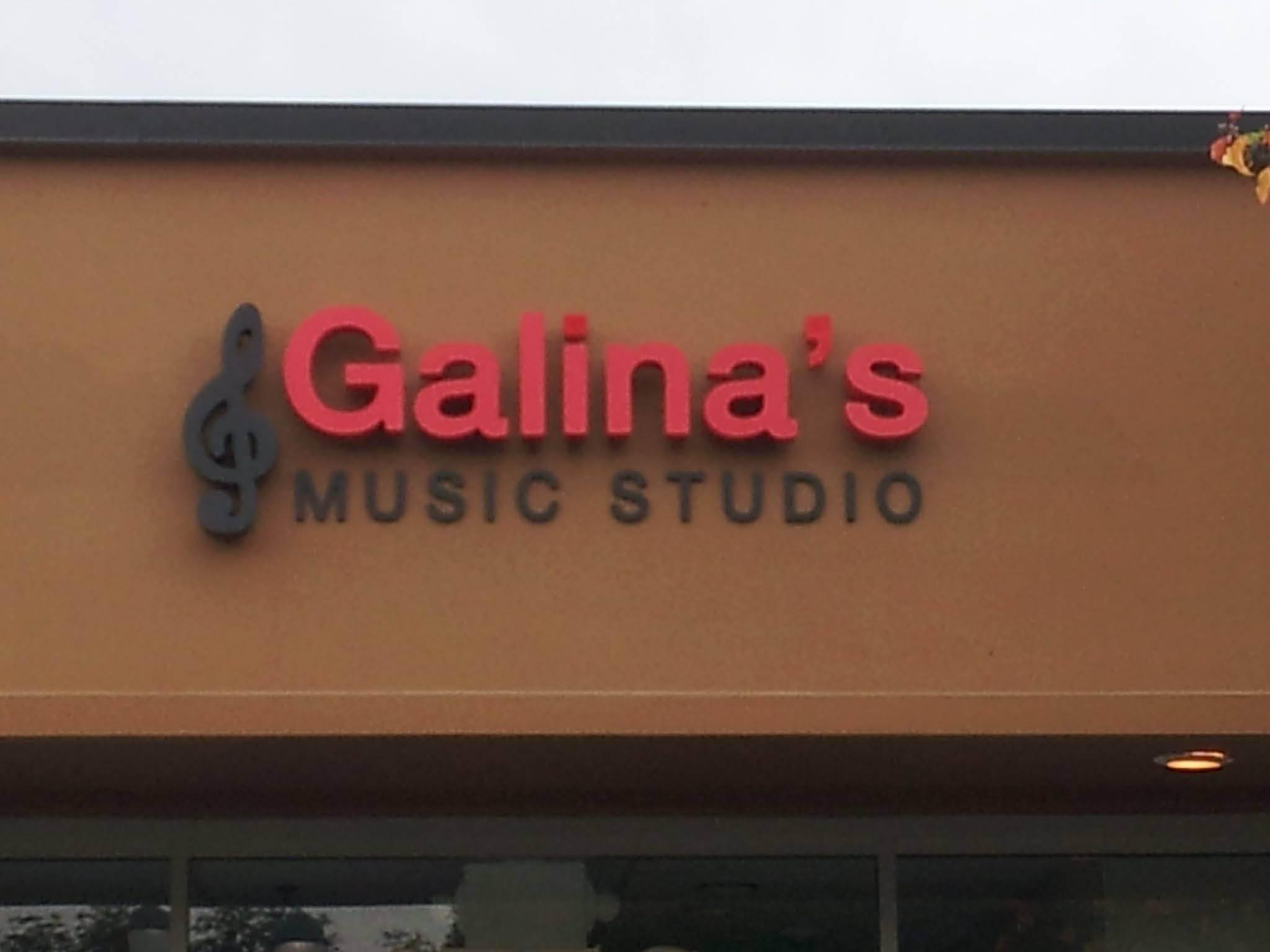 storefront signage; Galina's Music Studio; San Jose and San Francisco areas