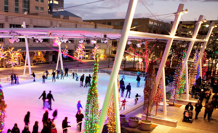 Gallivan center ice rink coupons, Ice Skating Coupons, Family activity coupons.
