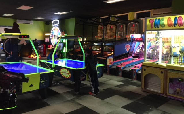 game room at The All Star bowling alley in Riverhead New York