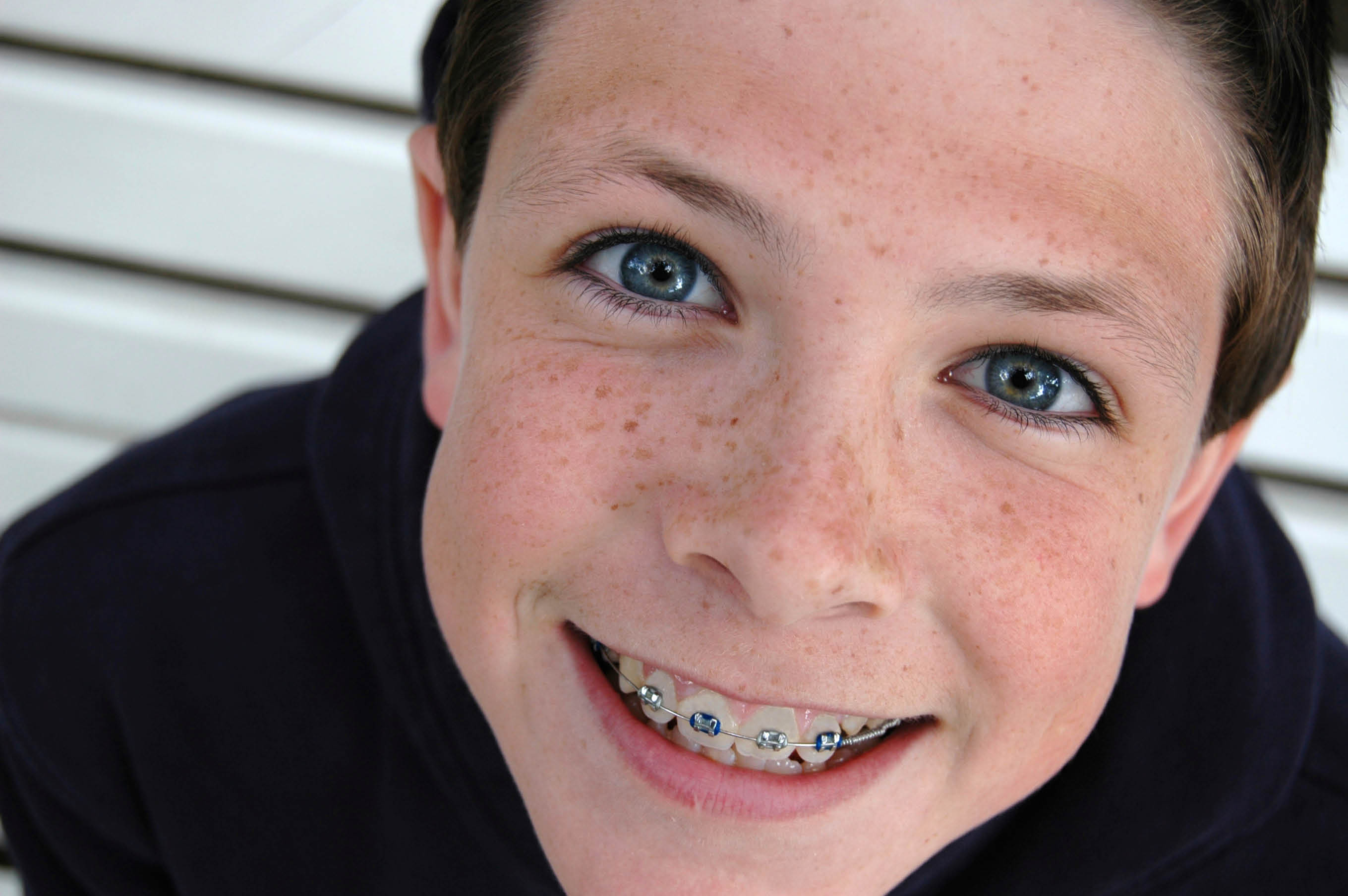 kid with braces