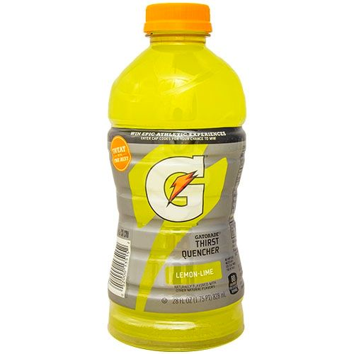 Gatorade bottle, gas station