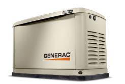 Be prepared with a Generac generator.