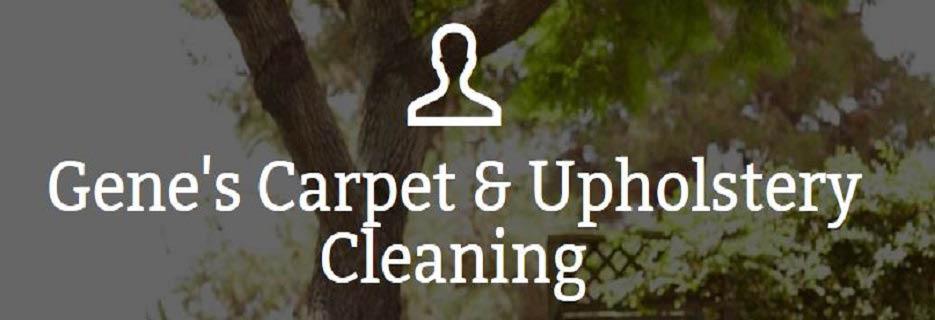 Gene's Carpet & Upholstery Cleaning logo banner