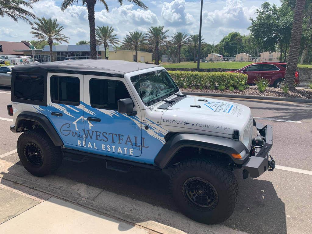Geri Westfall Real Estate company vehicle