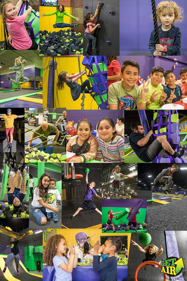 Take lots of photos at Get Air Trampoline Park - Urbandale, Iowa