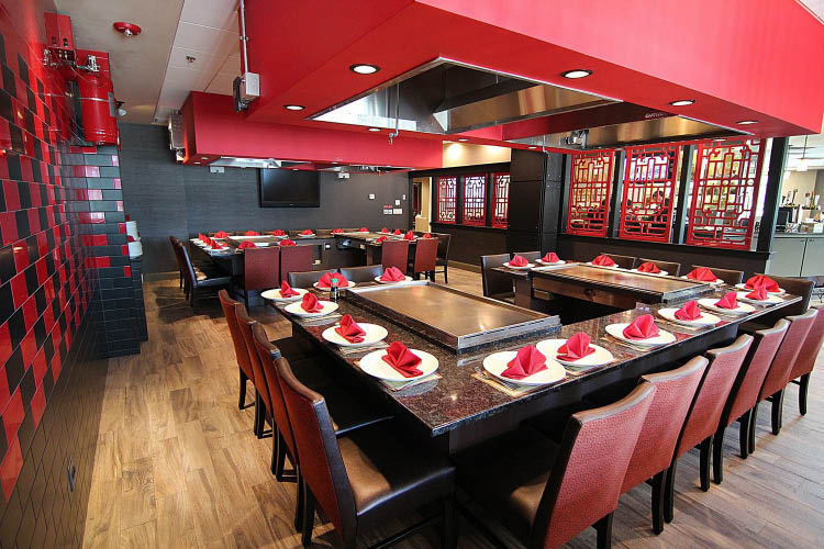Our new Hibachi seating compliments our restaurant so well. We can now seat even more people together for dinner.