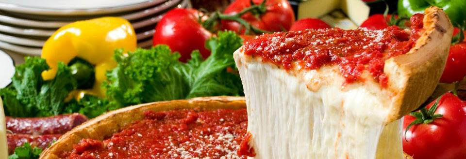 Chicago's Famous Stuffed Pizza Made With Natural Veggies from Giordano's banner