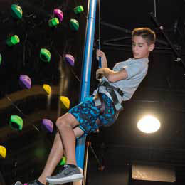 Rockwall climbing was never better that at Gizmos!