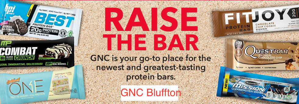 Protein bars for better snacking; GNC South Carolina