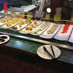 Sushi bar at Golden Buffet in Fenton, MI