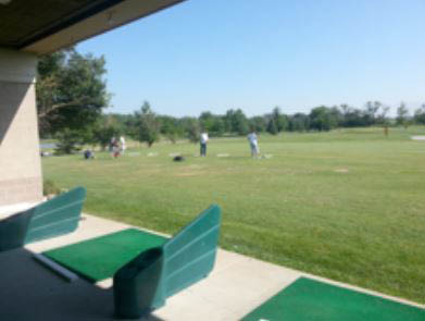 The Golf Academy range at The Odyssey of Tinley Park, IL.